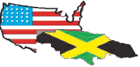 Jamaica and USA Flag Combined