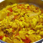 Jamaica National Dish:- Ackee and Saltfish
